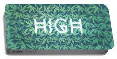 High Typo  Cannabis   Hemp  420  Marijuana   Pattern Portable Battery Charger