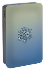 Portable Battery Charger featuring the photograph Snowflake Photo - Flying Castle Alternate by Alexey Kljatov