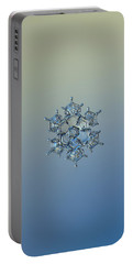 Snowflake Photo - Flying Castle Alternate Portable Battery Charger by Alexey Kljatov