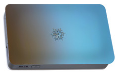 Portable Battery Charger featuring the photograph Snowflake Photo - Flying Castle by Alexey Kljatov