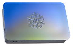 Portable Battery Charger featuring the photograph Snowflake Photo - Gardener's Dream Alternate by Alexey Kljatov
