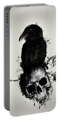 Raven And Skull Portable Battery Charger