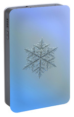 Portable Battery Charger featuring the photograph Snowflake Photo - Majestic Crystal by Alexey Kljatov