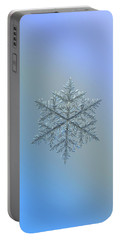 Snowflake Photo - Majestic Crystal Portable Battery Charger