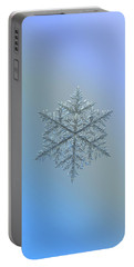 Snowflake Photo - Majestic Crystal Portable Battery Charger by Alexey Kljatov
