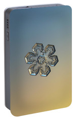 Portable Battery Charger featuring the photograph Snowflake Photo - Massive Gold by Alexey Kljatov