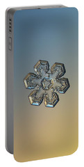 Snowflake Photo - Massive Gold Portable Battery Charger by Alexey Kljatov