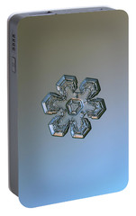 Portable Battery Charger featuring the photograph Snowflake Photo - Massive Silver by Alexey Kljatov