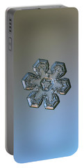Snowflake Photo - Massive Silver Portable Battery Charger by Alexey Kljatov