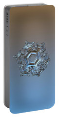 Portable Battery Charger featuring the photograph Snowflake Photo - Cold Metal by Alexey Kljatov