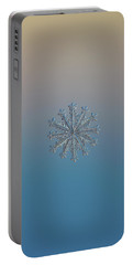 Portable Battery Charger featuring the photograph Snowflake Photo - Wheel Of Time by Alexey Kljatov