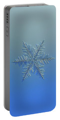 Portable Battery Charger featuring the photograph Snowflake Photo - Winter Is Coming by Alexey Kljatov