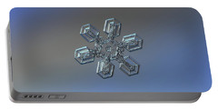 Portable Battery Charger featuring the photograph Snowflake Photo - High Voltage by Alexey Kljatov