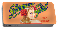 Portable Battery Charger featuring the painting 1945 California Glamour Girl  by Historic Image