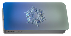 Portable Battery Charger featuring the photograph Snowflake Photo - Ice Relief by Alexey Kljatov