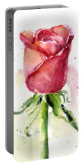 Rose Watercolor Portable Battery Charger