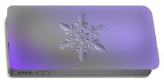 Portable Battery Charger featuring the photograph Snowflake Photo - Heart-powered Star by Alexey Kljatov