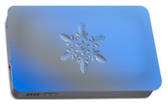 Snowflake Photo - Heart-powered Star Alternate Portable Battery Charger by Alexey Kljatov