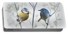 Birds In Tree Portable Battery Charger by Ivana
