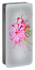 Pink Eruption Portable Battery Charger by Ivana Westin