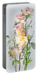Wild Roses Portable Battery Charger by Ivana Westin