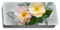 Two Wild Roses Portable Battery Charger