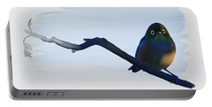 Eye To Eye With Silvereye Portable Battery Charger by Ivana Westin