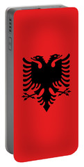 Portable Battery Charger featuring the digital art Flag Of Albania Authentic Version by Bruce Stanfield
