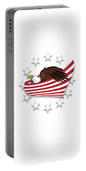 Portable Battery Charger featuring the digital art Eagle Of The Free V1 by Bruce Stanfield