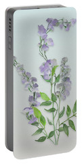Purple Tiny Flowers Portable Battery Charger by Ivana Westin