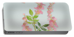 Pink Tiny Flowers Portable Battery Charger
