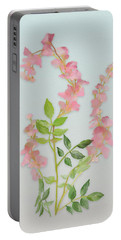 Pink Tiny Flowers Portable Battery Charger by Ivana Westin