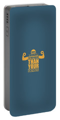 Make Yourself Stronger Than Your Excuses Gym Motivational Quotes Poster Portable Battery Charger