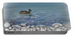 Portable Battery Charger featuring the painting Clear Water  by Ivana Westin