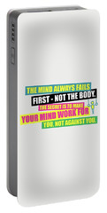 The Mind Always Fails First Gym Inspirational Quotes Poster Portable Battery Charger