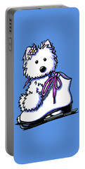 Westie Skater Girl Portable Battery Charger