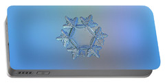 Portable Battery Charger featuring the photograph Snowflake Photo - Sunflower by Alexey Kljatov