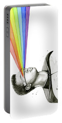 Geordi Sees The Rainbow Portable Battery Charger by Olga Shvartsur