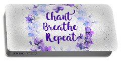 Portable Battery Charger featuring the painting Chant, Breathe, Repeat by Tammy Wetzel