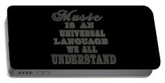 Music Is An Universal Language Typography Portable Battery Charger by Georgeta Blanaru