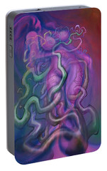Portable Battery Charger featuring the digital art Struggles by Kevin Middleton