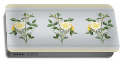 Yellow Watercolor Rose Portable Battery Charger
