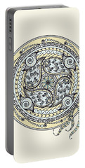 Paisley Balance Mandala Portable Battery Charger