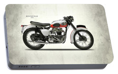 1959 T120 Bonneville Portable Battery Charger by Mark Rogan