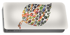 Portable Battery Charger featuring the digital art Leafy Palette by Deborah Smith