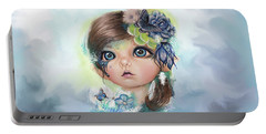 Indigo - Butterfly Keeper - Munchkinz By Sheena Pike  Portable Battery Charger by Sheena Pike