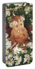 Daisies Portable Battery Charger by Anne Geddes