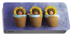 Sunflower Pots Portable Battery Charger