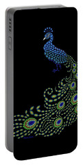 Jeweled Peacock Portable Battery Charger