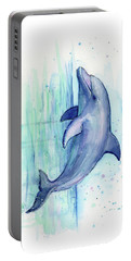 Dolphin Watercolor Portable Battery Charger